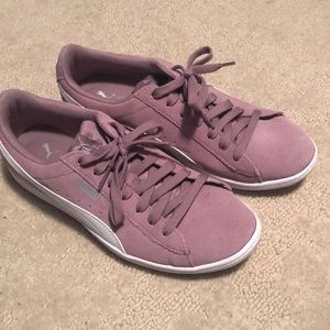 Puma purple suede cushion sneakers